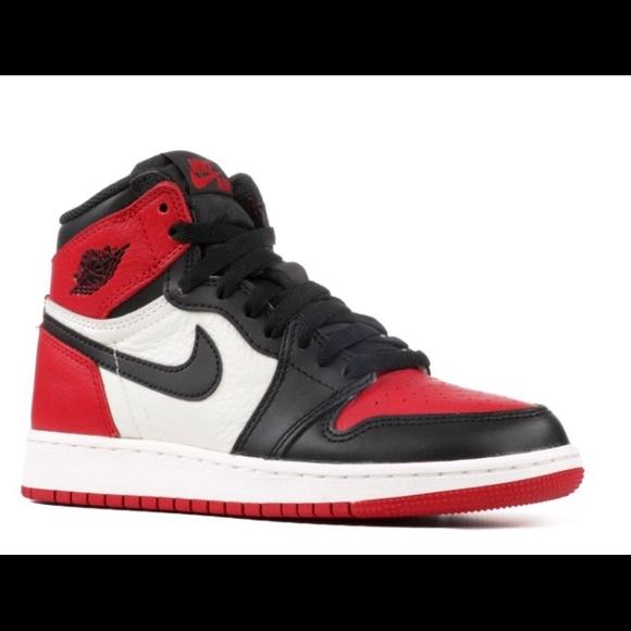 "brand new 85481 84d63 ""Bred Toe"" Air Jordan 1 Retro Gradeschool(EUC)"